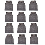 Workoutz Adult Scrimmage Vests 12 Pack (Dark Gray)