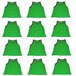 Workoutz Adult Scrimmage Vests 12 Pack (Green)