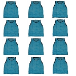 Workoutz Adult Scrimmage Vests 12 Pack (Light Blue)