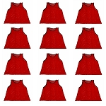Workoutz Big And Tall Scrimmage Vests 12 Pack (Red)