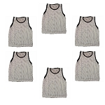 Adult Scrimmage Vest (White, 6 Qty)