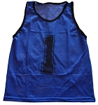 Workoutz Youth Numbered Scrimmage Vests 12 Pack (Blue)