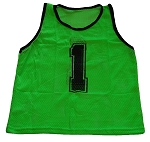 Workoutz Adult Numbered Scrimmage Vests 12 Pack (Green)