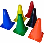 Workoutz 9-Inch Assorted Color Training Cones (1 Dozen)