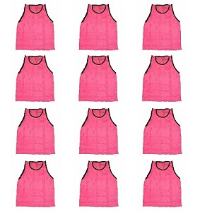 Workoutz Youth Scrimmage Vests 12 Pack (Pink)