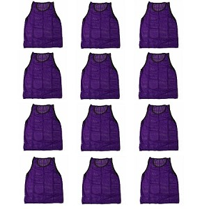 Workoutz Adult Scrimmage Vests 12 Pack (Purple)