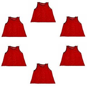 Youth Scrimmage Vest (Red, 6 Qty)