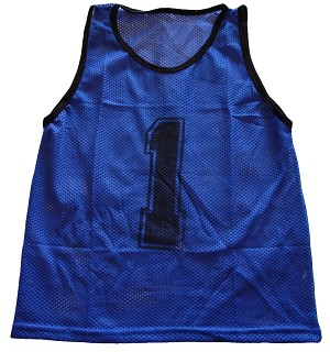 Adult Numbered Scrimmage Vests 12 Pack (Blue) - OUT OF STOCK