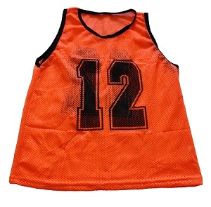 Adult Numbered Scrimmage Vests 12 Pack (Orange) - OUT OF STOCK