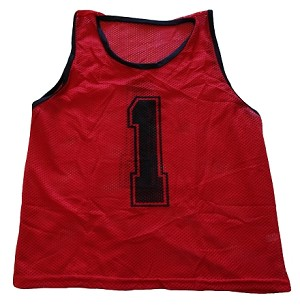 Workoutz Youth Numbered Scrimmage Vests 12 Pack (Red)
