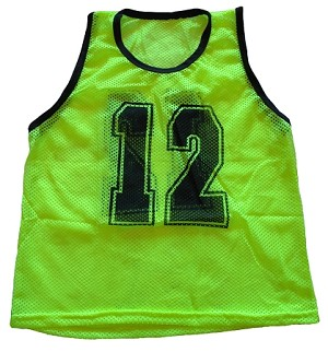 Workoutz Youth Numbered Scrimmage Vests 12 Pack (Yellow)