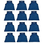 Workoutz Youth Scrimmage Vests 12 Pack (Blue)