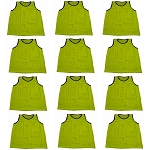 Workoutz Adult Scrimmage Vests 12 Pack (Yellow)