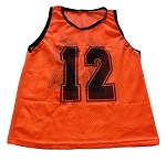Workoutz Adult Numbered Scrimmage Vests 12 Pack (Orange)
