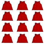 Wokoutz Youth Scrimmage Vests 12 Pack (Red)