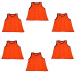 Big & Tall Scrimmage Vest (Orange, 6 Qty)